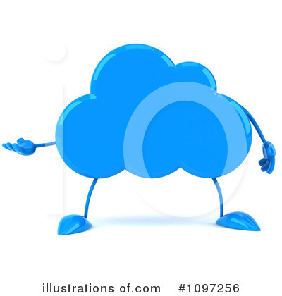 Cloud Character Clipart #1097256 by Julos