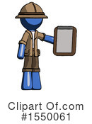 Blue Design Mascot Clipart #1550061 by Leo Blanchette