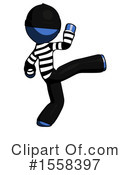 Blue Design Mascot Clipart #1558397 by Leo Blanchette