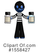 Blue Design Mascot Clipart #1558427 by Leo Blanchette