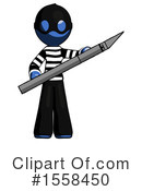 Blue Design Mascot Clipart #1558450 by Leo Blanchette