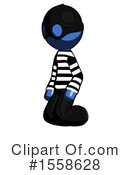 Blue Design Mascot Clipart #1558628 by Leo Blanchette