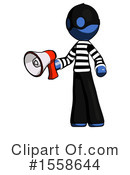Blue Design Mascot Clipart #1558644 by Leo Blanchette