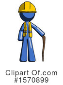 Blue Design Mascot Clipart #1570899 by Leo Blanchette