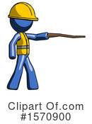 Blue Design Mascot Clipart #1570900 by Leo Blanchette