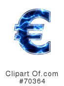 Royalty-Free (RF) blue electric symbol Clipart Illustration #70364