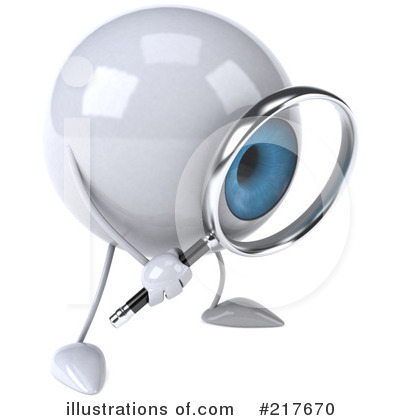Blue Eyeball Clipart #217670 - Illustration by Julos