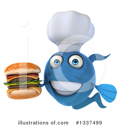 Chef Fish Clipart #1337499 by Julos