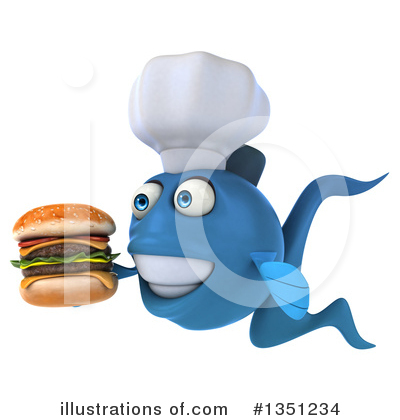 Chef Fish Clipart #1351234 by Julos
