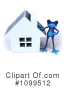 Royalty-Free (RF) Blue Frog Clipart Illustration #1099512