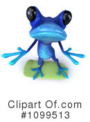 Royalty-Free (RF) Blue Frog Clipart Illustration #1099513