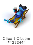 Blue Frog Clipart #1282444