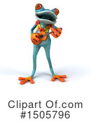 Blue Frog Clipart #1505796 by Julos
