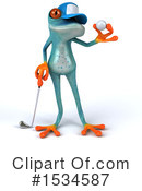 Blue Frog Clipart #1534587 by Julos