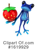 Blue Frog Clipart #1619929 by Julos