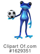 Blue Frog Clipart #1629351 by Julos
