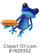 Blue Frog Clipart #1629352 by Julos