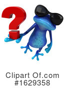 Blue Frog Clipart #1629358 by Julos