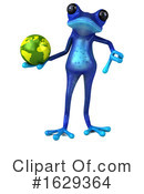Blue Frog Clipart #1629364 by Julos