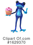 Blue Frog Clipart #1629370 by Julos