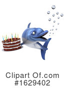 Blue Frog Clipart #1629402 by Julos