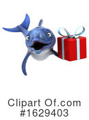 Blue Frog Clipart #1629403 by Julos
