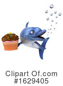 Blue Frog Clipart #1629405 by Julos