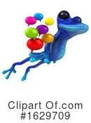 Blue Frog Clipart #1629709 by Julos