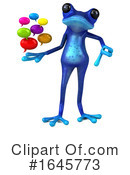 Blue Frog Clipart #1645773 by Julos