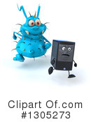 Royalty-Free (RF) Blue Germ Clipart Illustration #1305273