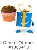 Blue Gift Character Clipart #1305410 by Julos