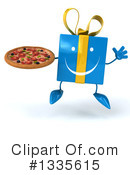 Blue Gift Character Clipart #1335615