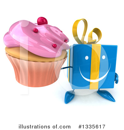 Blue Gift Clipart #1335617 by Julos