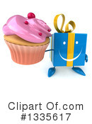 Blue Gift Character Clipart #1335617