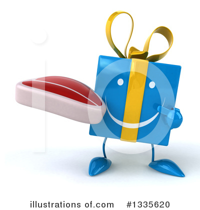 Blue Gift Clipart #1335620 by Julos