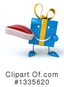 Blue Gift Character Clipart #1335620