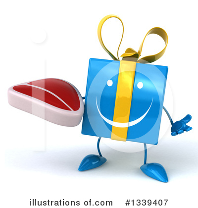 Blue Gift Clipart #1339407 by Julos