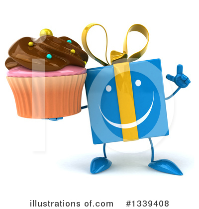 Blue Gift Clipart #1339408 by Julos