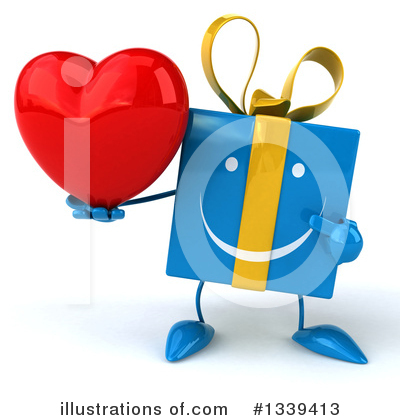 Blue Gift Clipart #1339413 by Julos