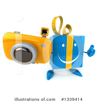 Blue Gift Clipart #1339414 by Julos
