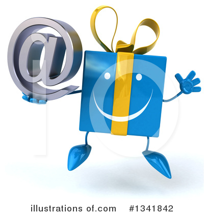 Blue Gift Clipart #1341842 by Julos