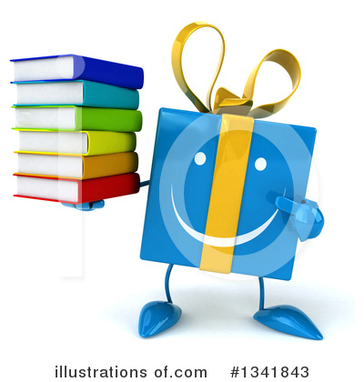 Blue Gift Clipart #1341843 by Julos