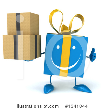 Blue Gift Clipart #1341844 by Julos