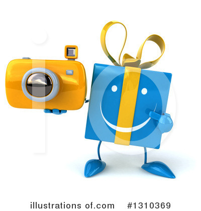 Royalty-Free (RF) Blue Gift Clipart Illustration by Julos - Stock Sample #1310369