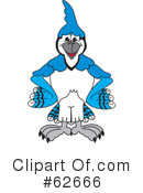 Blue Jay Mascot Clipart #62666 by Toons4Biz