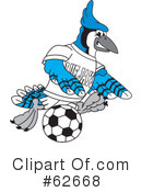 Blue Jay Mascot Clipart #62668 by Toons4Biz