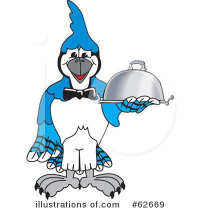 Royalty-Free (RF) Blue Jay Mascot Clipart Illustration by Toons4Biz - Stock Sample #62669