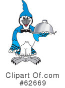Blue Jay Mascot Clipart #62669 by Toons4Biz