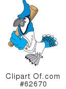 Blue Jay Mascot Clipart #62670 by Toons4Biz