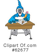 Blue Jay Mascot Clipart #62677 by Toons4Biz